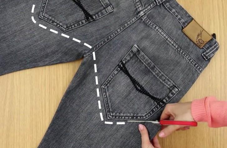 comment transformer un vieux jean en une ceinture multi usage en 2 minutes et sans couture. Black Bedroom Furniture Sets. Home Design Ideas