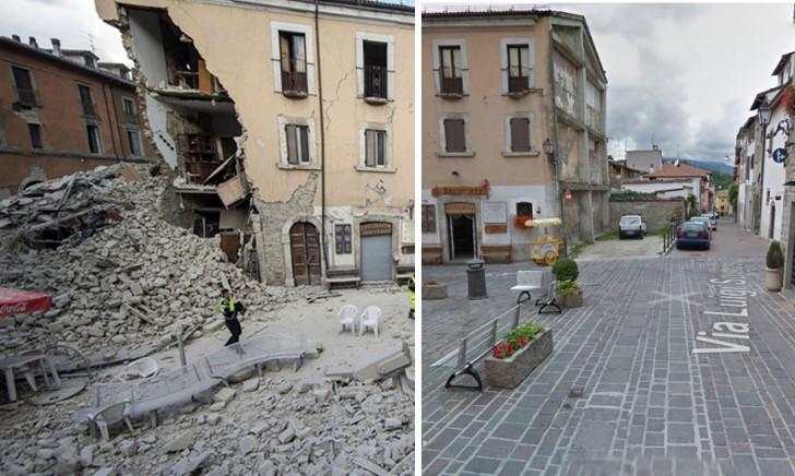 Le immagini prima e dopo il sisma ecco cosa accaduto e for Case ristrutturate immagini