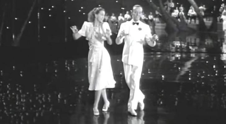 Fred Astaire danst met een uitzonderlijke partner: ze zijn zo goed dat je met open mond naar ze zult kijken!