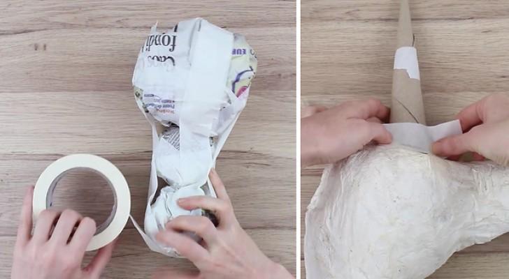 Comienza uniendo pelotitas de papel y crea una pequeña obra de arte...perfecta para los niños!