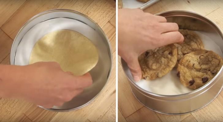 Vous voulez garder au frais plus longtemps vos biscuits faits maison? Voici l'astuce!