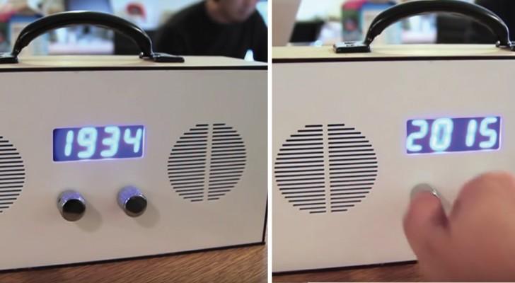 Det här är en väldigt speciell radio: när ni vänder på knappen... så reser ni i tiden!