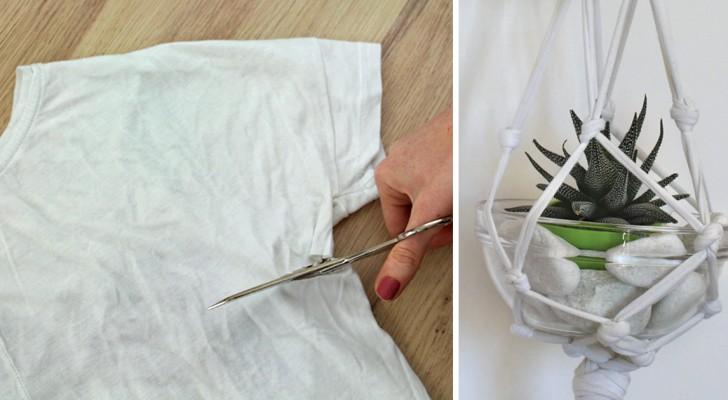 Wie man ein altes T-Shirt in ein Einrichtungsstück verwandelt - ohne zu nähen