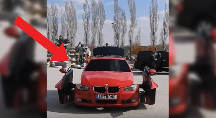 A car stops and its doors open --- you won't believe your eyes!