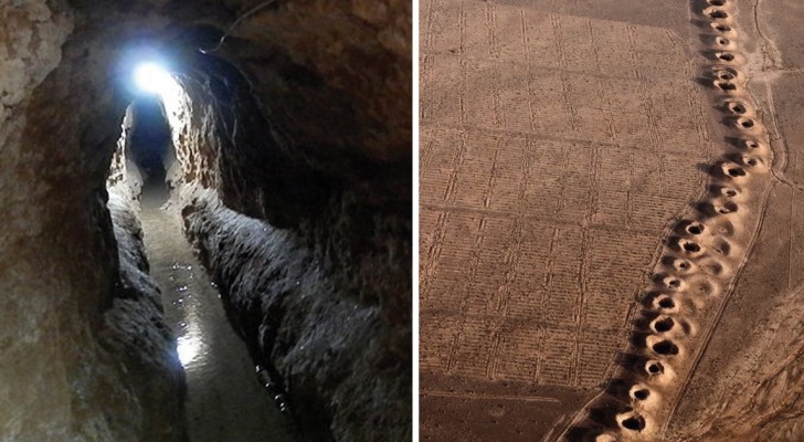 Voici l'efficace système de canaux souterrains avec lequel les Perses réussissaient à irriguer le désert