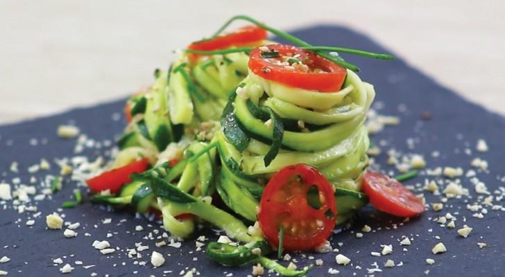 Spaghetti aux courgettes: une alternative végétale avec peu de glucides et... beaucoup de goût!