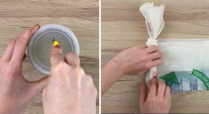 Il recycle une boîte et obtient le distributeur de sachets le plus pratique qui existe: voici comment faire