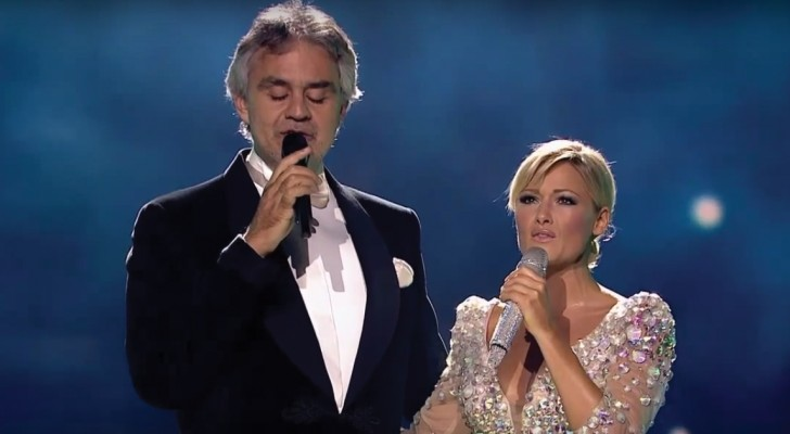 Andrea Bocelli und Helene Fischer: hier eine Darbietung, die Gänsehaut aufkommen lässt