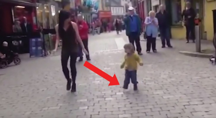 An Irish dancing street artist inspires someone ...