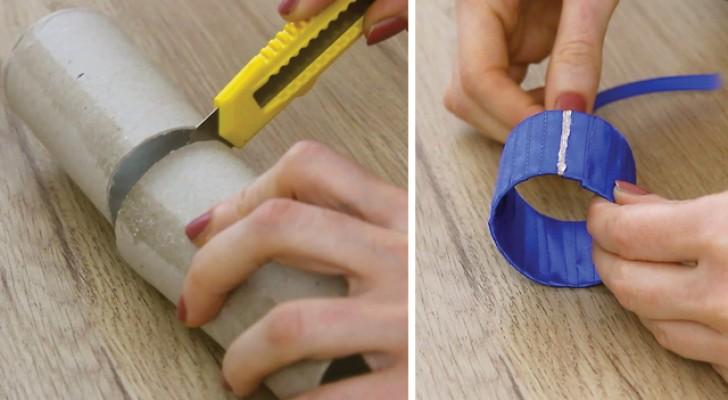 Decorar a mesa com material reciclável: veja como criar um porta-guardanapos.