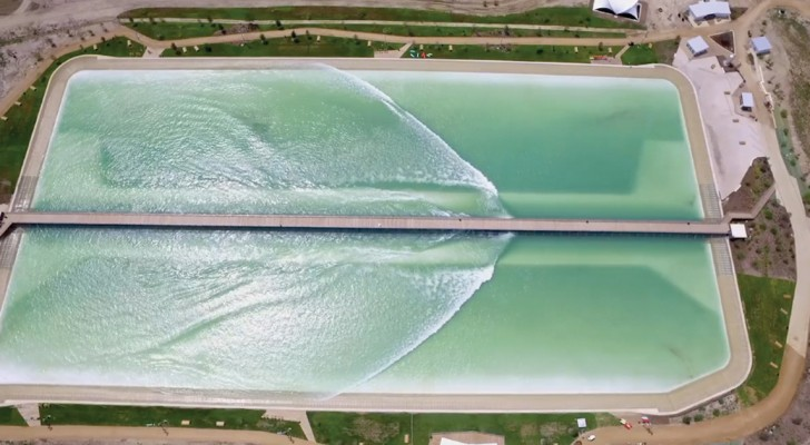 El paraiso de surfistas: esta es la piscina donde las olas  son creadas artificialmente