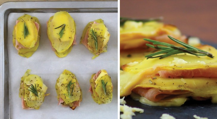 Aardappeltorentje met ham en kaas: eenvoudig en lekker... in alle opzichten!