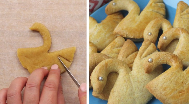 Este es un truco facil para crear nos hermosos biscochos en forma de cisne