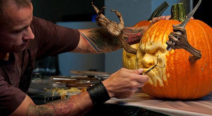 Le zucche di Halloween? Questo scultore le trasforma in OPERE d'ARTE