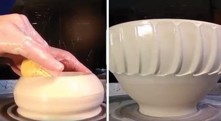 De verwezenlijking van een keramiek pot: je kunt gewoon niet niet kijken!