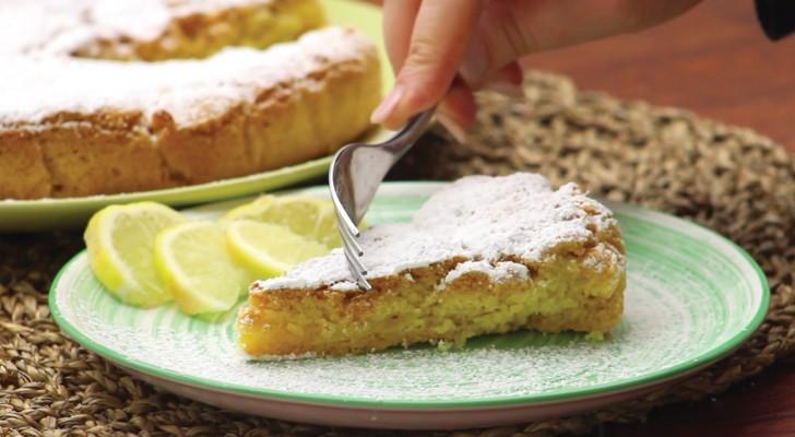 Torta de crema al limon: un clasico de gusto delicado y envolvente