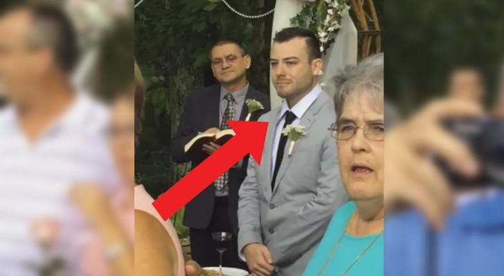 El futuro esposo esta sobre el altar: cuando ve llegar a la novia su reaccion sorprende a todos