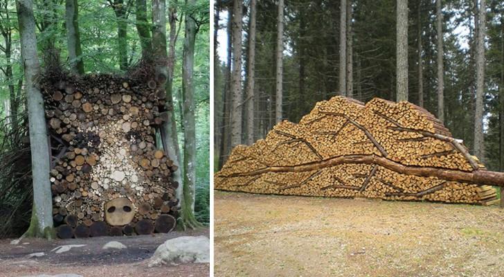 10 Menschen, die ihren Holzhaufen in ein Kunstwerk verwandelt haben... lasst euch inspirieren!