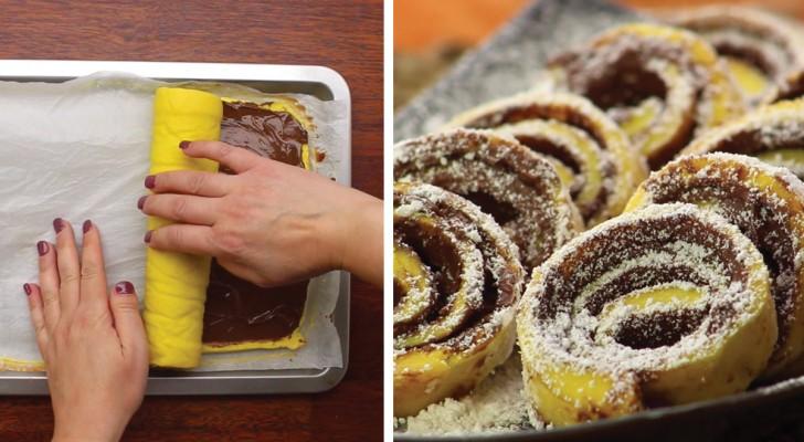 Rouleau au nutella voici comment faire ce g teau tr s facile et amusant r - Comment faire du crepi au rouleau ...