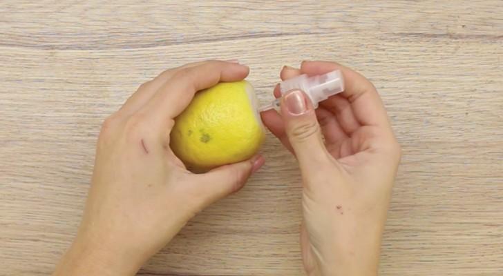 Crie este simples limão spray e dê um toque  divertido a sua mesa!