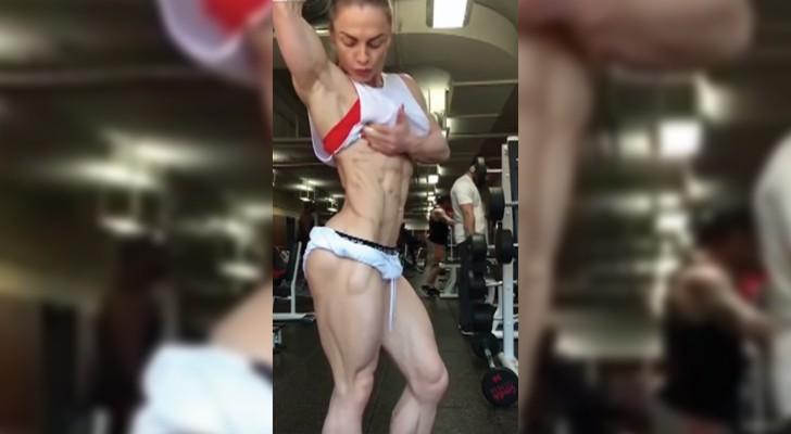 Female bodybuilding with impressive results!