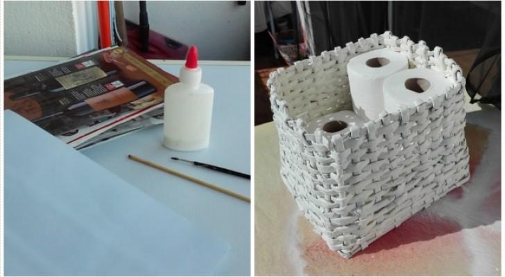 Como construir un resistente cesto....con simples hojas de diario!