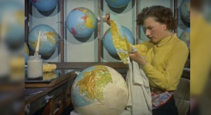 In 1955 werden globes  zo gemaakt: simpelweg fascinerend!