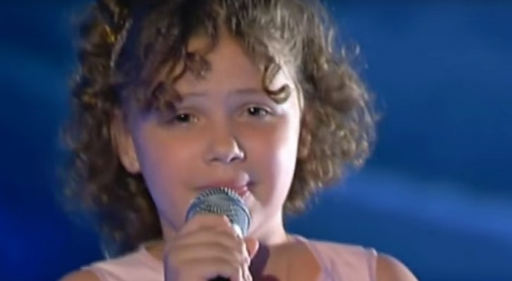 El talento de esta niña esta escrito en su ADN: es la nieta de un gran artista italiano!