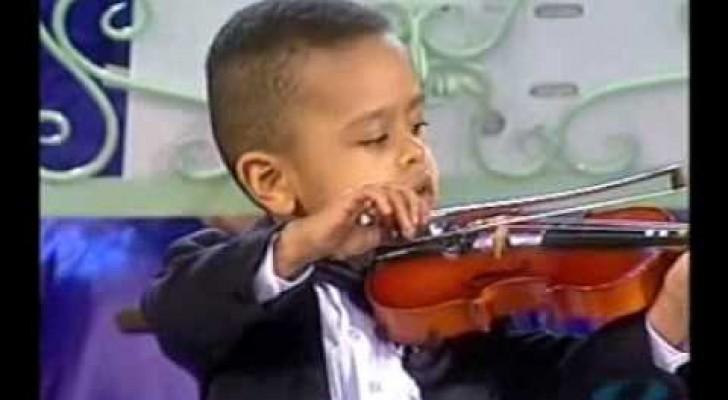 O violinista de 3 anos