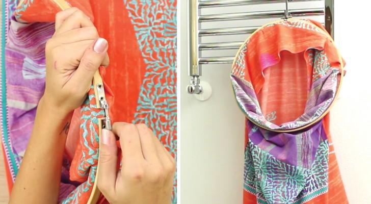 Wie man ein Kissenbezug als Wäschesack wiederverwertet