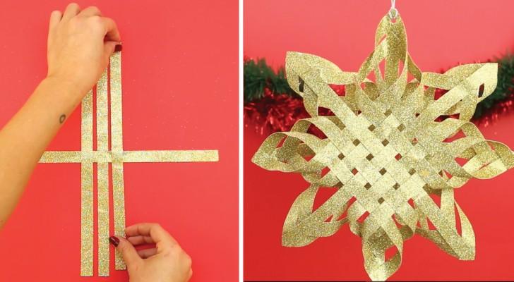 Apprenez à créer à la maison une superbe étoile de Noël en quelques minutes
