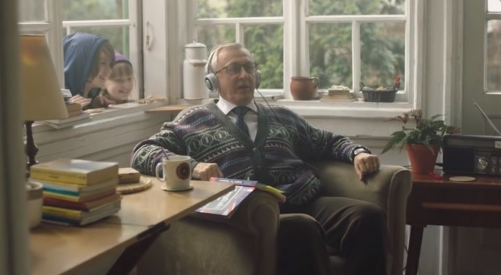 An ambitious grandfather learns English for Xmas!