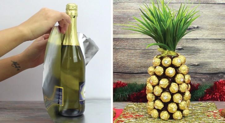 wie man aus einer flasche champagner eine schoko ananas herstellt. Black Bedroom Furniture Sets. Home Design Ideas