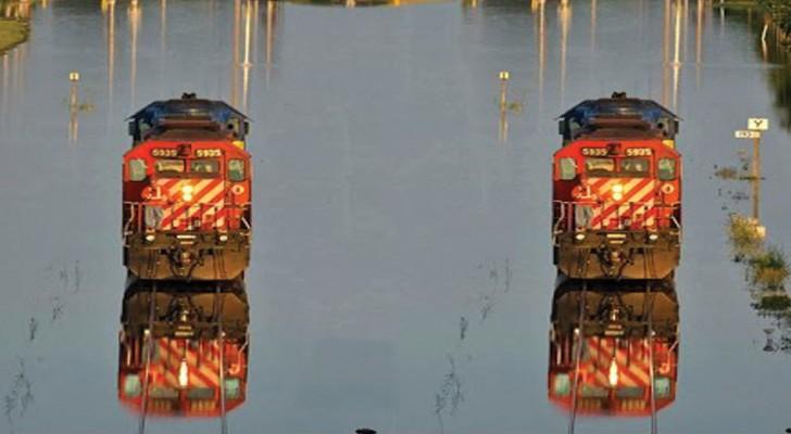 En Bangladesh hay un tren que funciona sobre las aguas...Y no es magia!