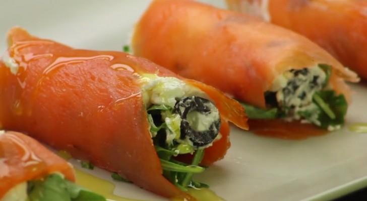 Rouleaux de saumon: l'apéritif délicieux, facile à préparer et qui ne décevra personne!