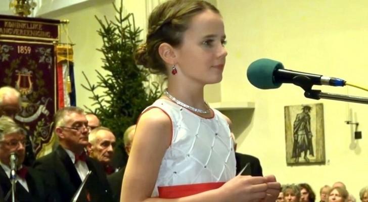 Può una giovane di 11 anni emozionare con la voce? Ascoltate la sua esibizione...