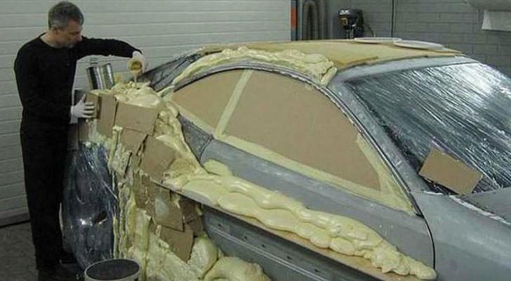 Er verspricht, ein Auto vom Schrottplatz in einen Luxuswagen zu verwandeln: Hier das Ergebnis