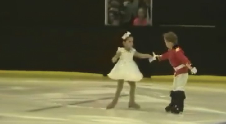 An amazing four-year-old twin sister and brother ice skating duo!
