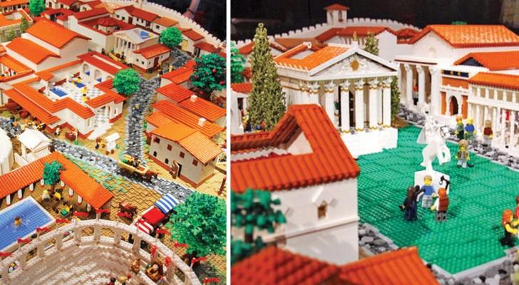 I Lego diventano un'opera d'arte: godetevi questa ricostruzione della mitica Pompei
