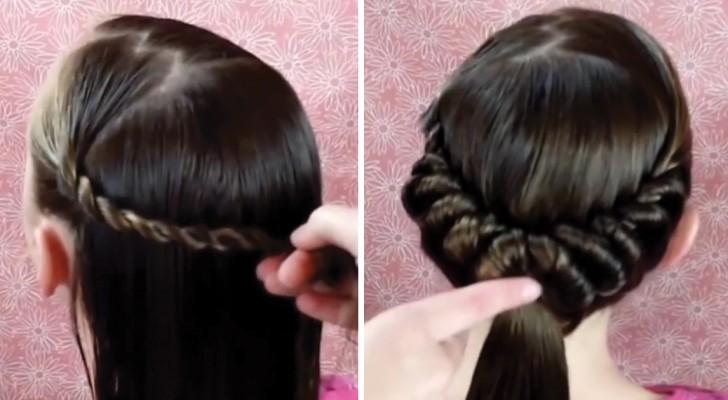 Divide los cabellos en sectores, enrrolla con cuidado y este es el bellisimo resultado que obtiene