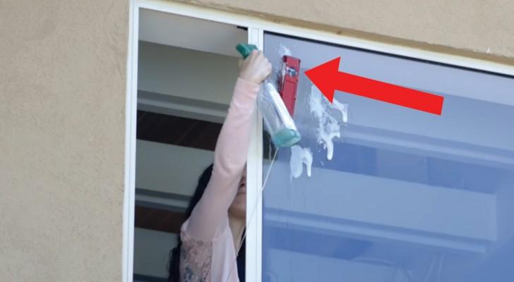 Woon je op de bovenste verdieping en moet je je ramen schoonmaken? Zo doe je dit gemakkelijk en... veilig!
