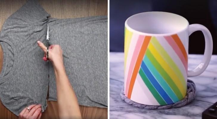 Trasforma delle vecchie magliette in originali oggetti per for Oggetti originali per la casa