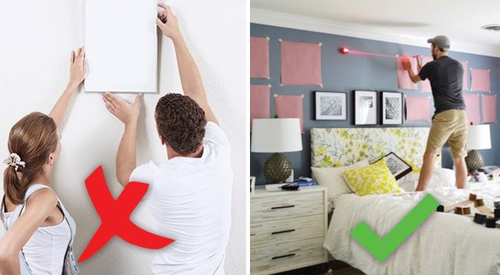 A che altezza appendere i quadri e come disporli ecco la - Altezza quadri sopra divano ...