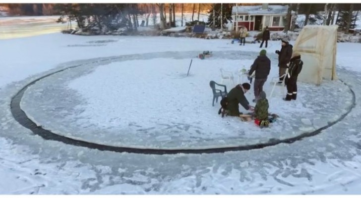 An Ice Carousel ? ---- a crazy but  fun idea that actually works!