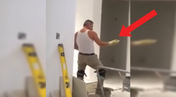 Watch this construction worker recharge his batteries! WoW!