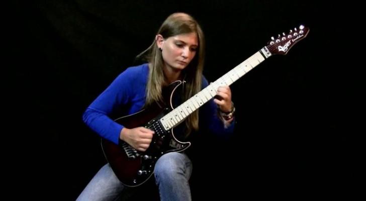 El rock encuentra a Beethoven: la bueno de esta joven la hace estar a la altura de la pieza que toca