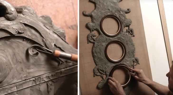 Realizza 3 disegni bellissimi ma è il modo in cui crea la cornice ad incantare