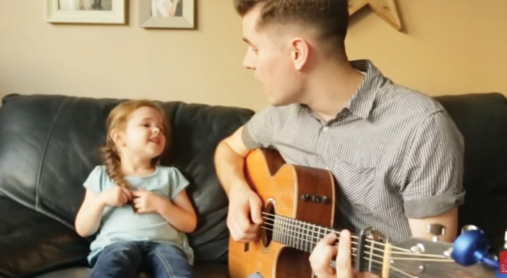 A touching live performance by a four-year-old girl ...