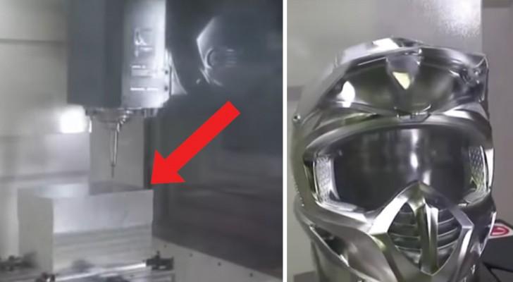 L'usinage à 5 axes : regardez comment ce morceau d'aluminium est modélisé... Hypnotique!