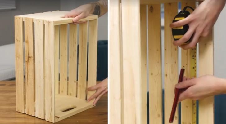 Van houten kist naar woonkamermeubel: in slechts een paar stappen creëer je een nuttig en mooi object